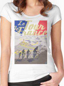 Le Tour de France retro poster Women's Fitted Scoop T-Shirt
