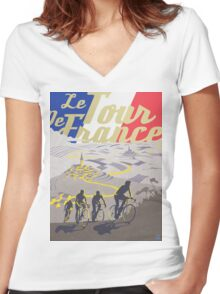 Le Tour de France retro poster Women's Fitted V-Neck T-Shirt