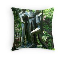 Soldiers Sculptures Throw Pillow