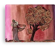 Tree Of Gold & Goddess Canvas Print