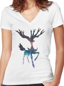 Xerneas used geomancy Women's Fitted V-Neck T-Shirt