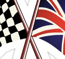 British Racing Flags Sticker
