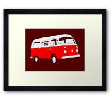 Bay Window Red White Essence (see description) Framed Print