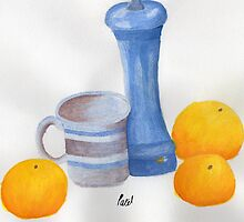 Still Life - Cup, Pepperpot & Oranges by BAVVY