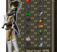 Runescape skill list all 99 by LindasDesign