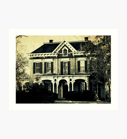 The haunted house 'round the corner Art Print