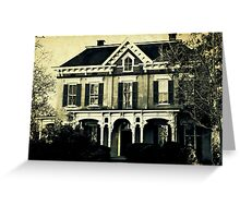 The haunted house 'round the corner Greeting Card