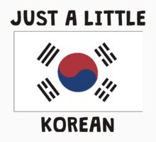 Just A Little Korean Kids Tee