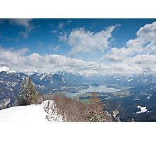 St. Wolfgangsee from Zwölferhorn Photographic Print