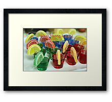 We're having a party! Framed Print