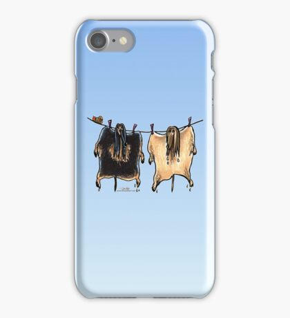 Line Dry Afghans iPhone Case/Skin