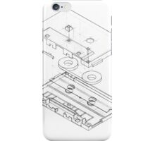 Exploded Cassette Tape  iPhone Case/Skin