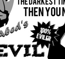 Evil Troy & Evil Abeard Sticker