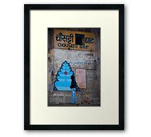 Indian Street Art Framed Print