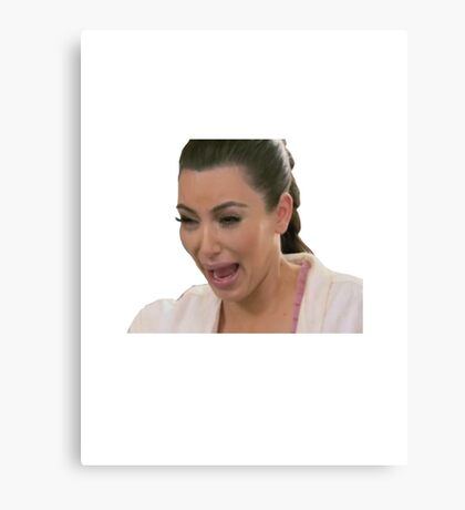 Kim Kardashian Crying Canvas Print