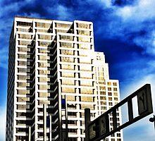 Blue Skies - Downtown Cincinnati by Alex Baker