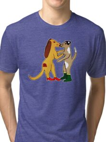 Dogs In Shoes Tri-blend T-Shirt