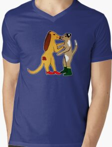 Dogs In Shoes Mens V-Neck T-Shirt