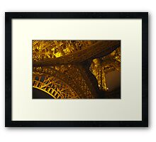 Abstract Eiffel Tower at Night Framed Print