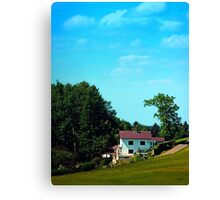 Farm, trees, clouds - what else? Canvas Print