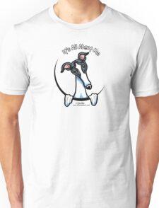 White & Black Greyhound IAAM Unisex T-Shirt