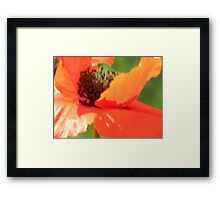 Impressionistic Sun and Wind Art Framed Print