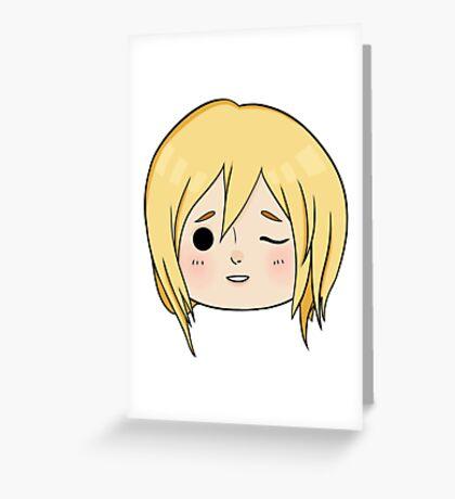 Krista (Historia) Wink! Greeting Card