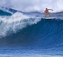 Surfer At Banzai Pipeline 2011 by Alex Preiss