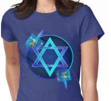 Bright Star and Blue Dreidels Womens Fitted T-Shirt