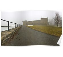 Fort Chambly in fog Poster