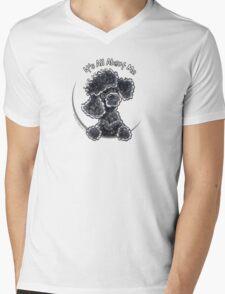 Black Toy Poodle IAAM Mens V-Neck T-Shirt