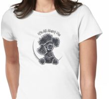 Black Toy Poodle IAAM Womens Fitted T-Shirt