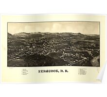 Panoramic Maps Penacook NH Poster