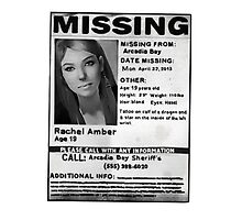 Rachel Amber Lost Poster- (Life is Strange) by meowdeer123