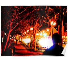 An evening stroll in West Hollywood Poster