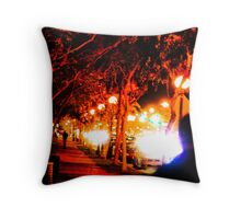 An evening stroll in West Hollywood Throw Pillow