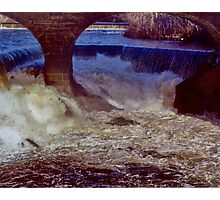 Main Street Dam on the Blackstone Photographic Print