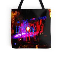 Light playing at night in West Hollywood Tote Bag