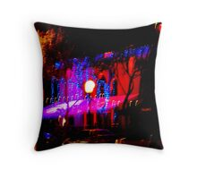 Light playing at night in West Hollywood Throw Pillow