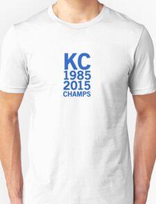 Kansas City Royals 2015 World Series Champs (blue font) T-Shirt