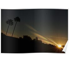 When Rays Of Light Touch The Sky Poster
