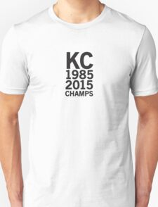 Kansas City Royals 2015 World Series Champs (black font) T-Shirt