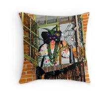 Mardi Gras in West Hollywood Throw Pillow