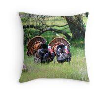 Male Turkeys Throw Pillow
