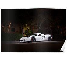 White Hennessey Venom GT Poster
