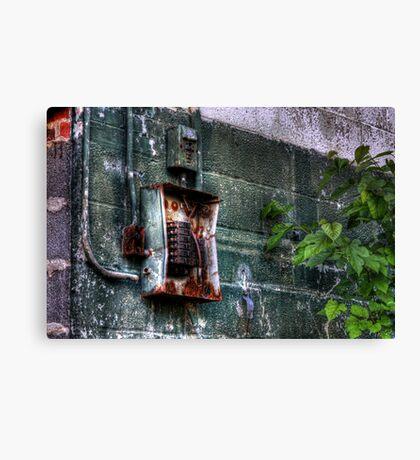 Electro Decay Canvas Print