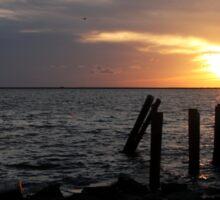 Dauphin Island Sunset Sticker