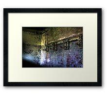 Showering Rust Framed Print