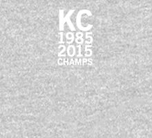 Kansas City Royals 2015 World Series Champs (white font) Womens Fitted T-Shirt