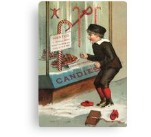 Wanted - A Boy To Lick Christmas Candy Cane Canvas Print